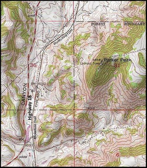 Parker Peak Map