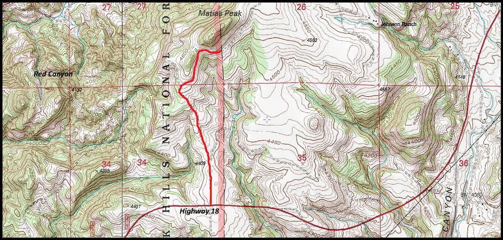 Matias Peak Map