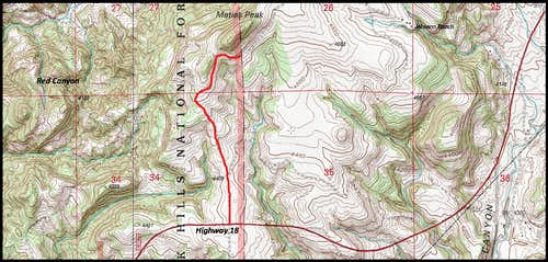 Matias Peak Map