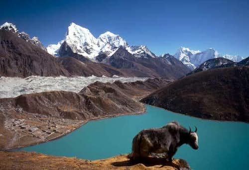 View of Gokyo lakes from...