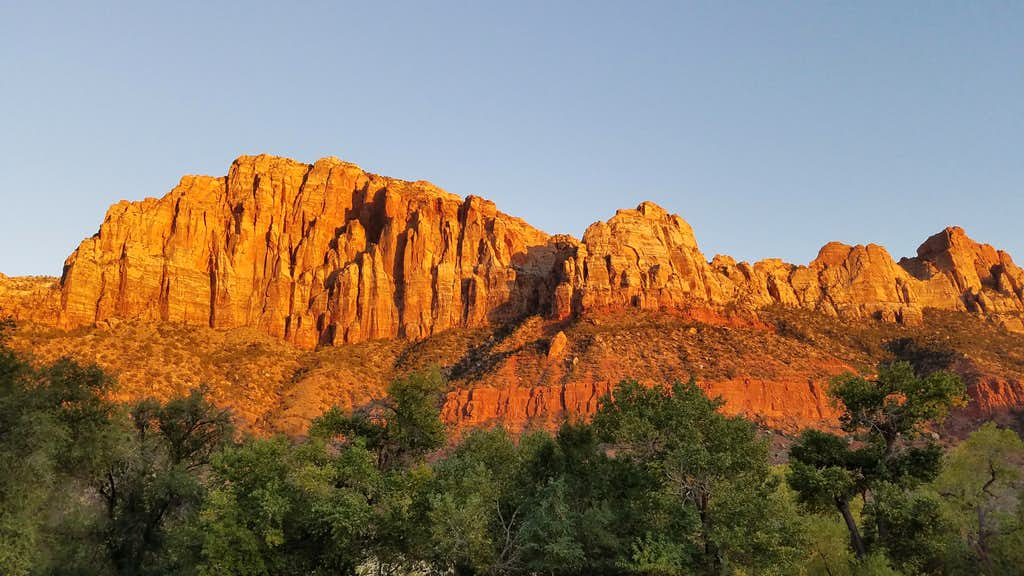 Sunset at Zion NP