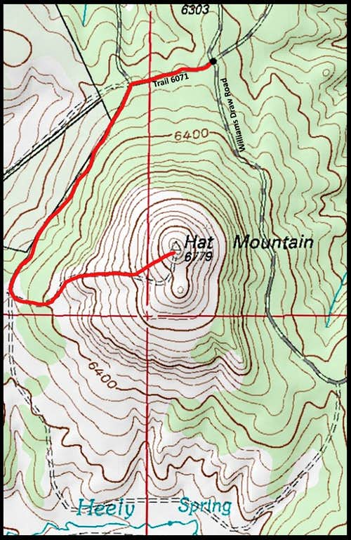Mat Mountain Hiking Route