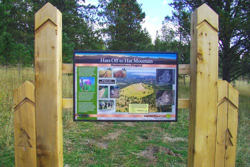 Hat Mountain Reclamation Sign