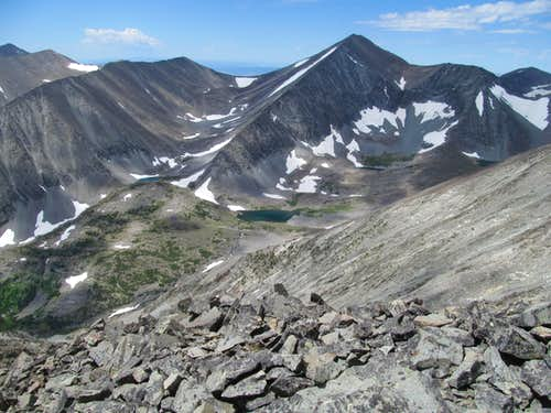 unnamed lake from E Ridge