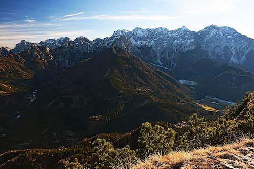 Kamnik and Savinja Alps from Pristobski Storzic