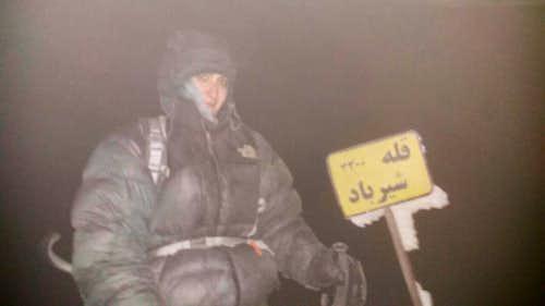 تنها عکس خاطره انگیز از فراز قله شیرباد...کوه بانوی شجاع...سرکار خانم سارا یوسفی26-9-95