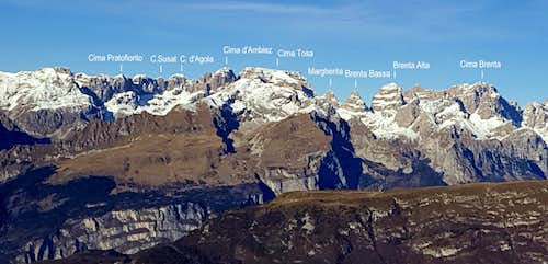 Brenta Group from La Rosta annotated pano