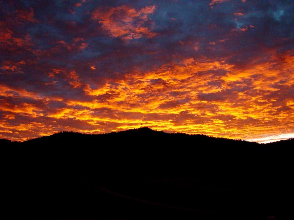 Sunrise over Battle Mountain