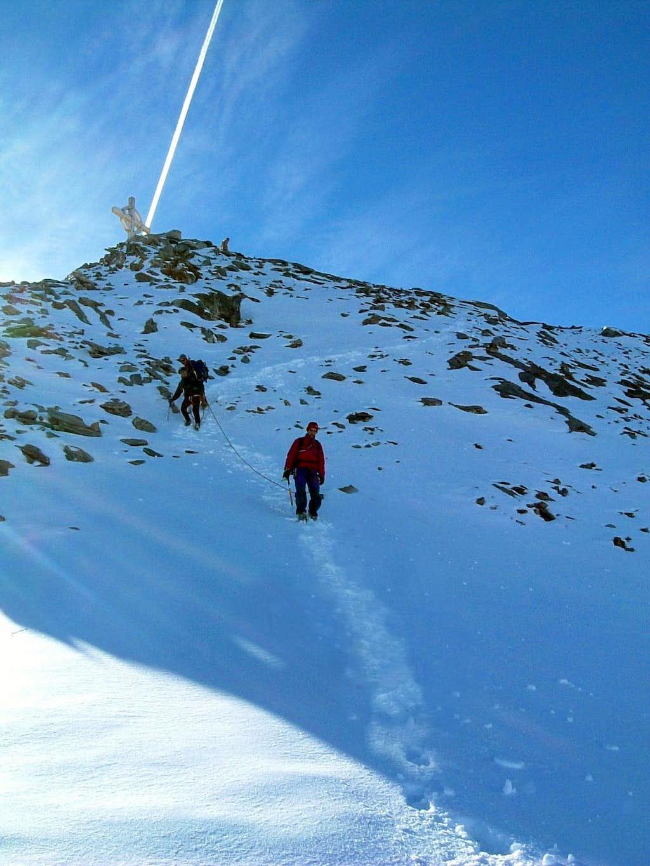 Cima delle Anime, starting the descent on NE face