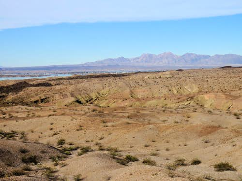 Chemehuevi Mountains and Lake Havasu