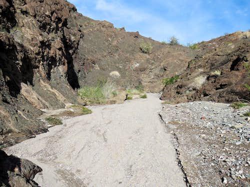 Tight canyon near Lake Havasu