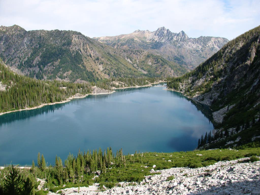 Colchuck Lake and Cashmere Mountain