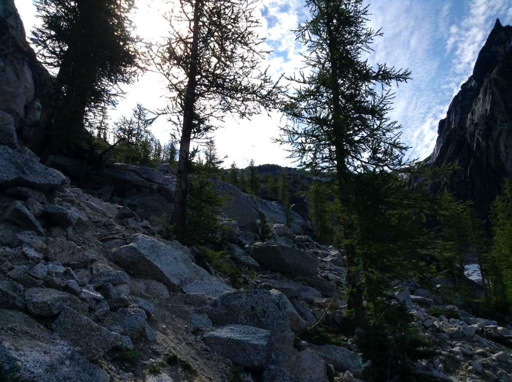 Looking Up Towards Aasgard Pass