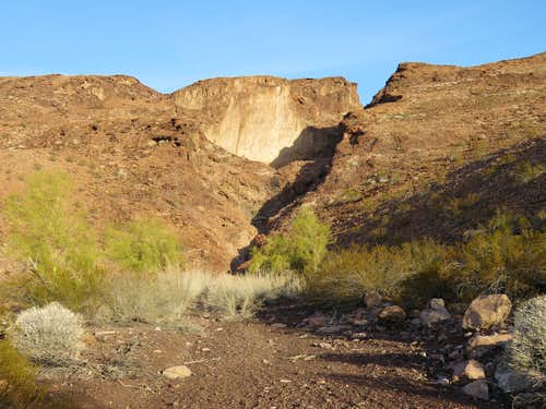South (low) end of Dead Burro Canyon