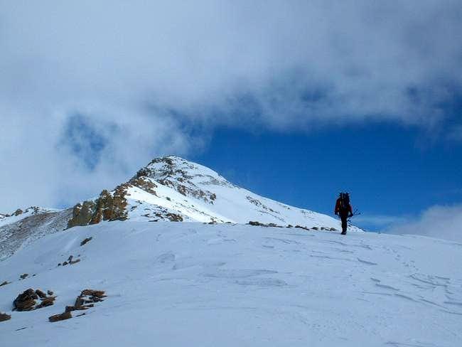 Me ascending the south ridge...