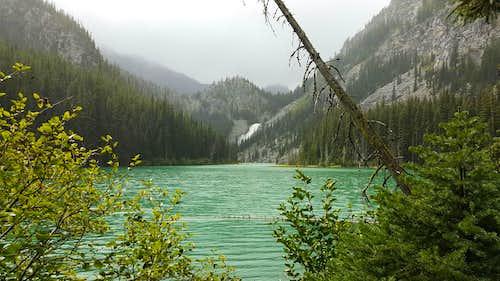 Snow Lake Spillway from Nada Lake