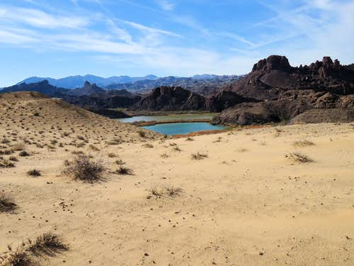 Lake Havasu and Topock Gorge from the sand dunes