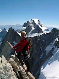Grandes Jorasses seen from the summit of Dente del Gigante