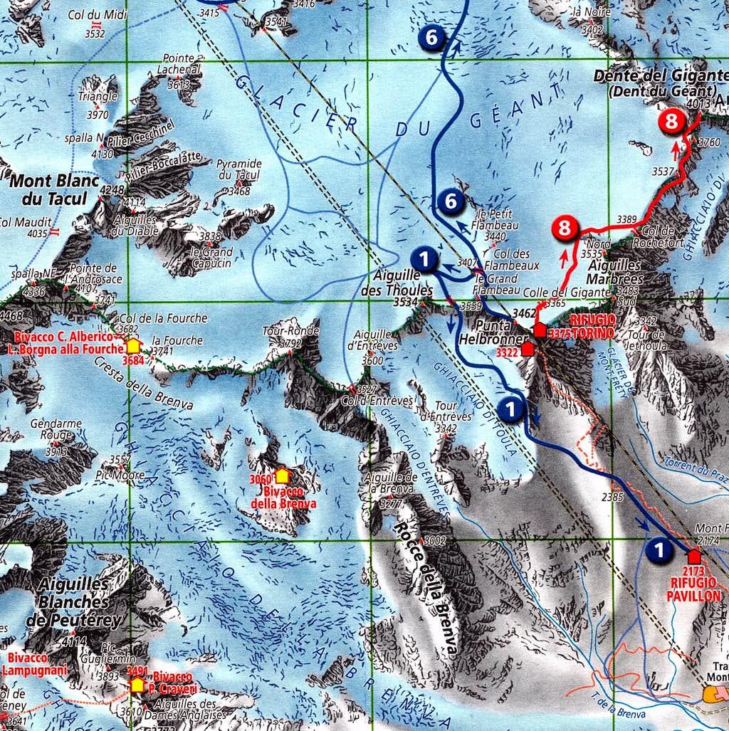 Dent du Géant map
