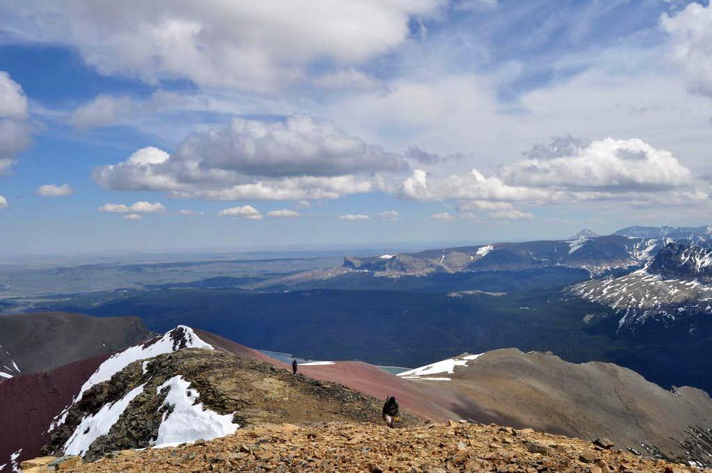 looking back down the SE ridge