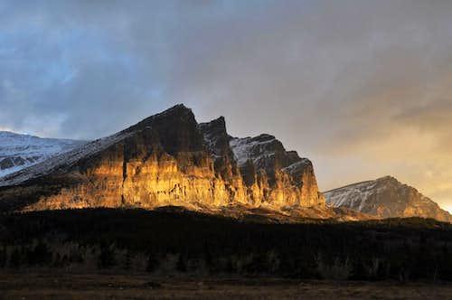 sunrise on Apikuni Mountain