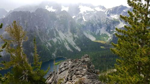 Mountaineer Ridge and Lake Stuart