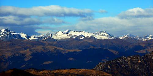 Adamello range seen from Pizzocolo summit
