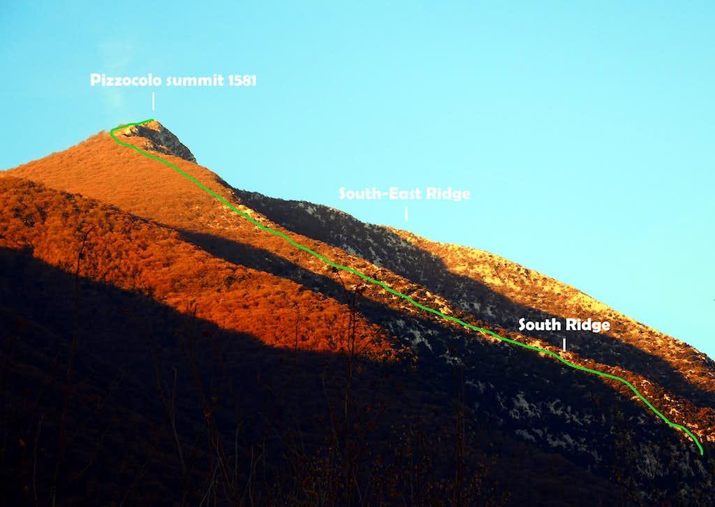 Monte Pizzocolo, beta of S ridge