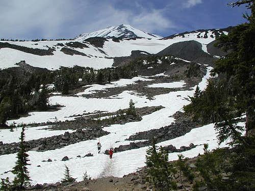 The view of Mount Adams from...