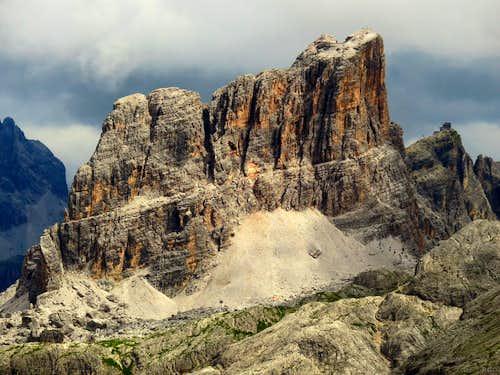 Averau from the summit of Sass de Stria