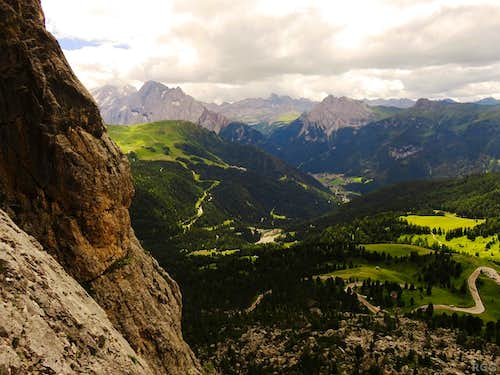 View south from high on the 1st Sella Tower