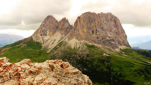 Sassolungo from the 1st Sella Tower