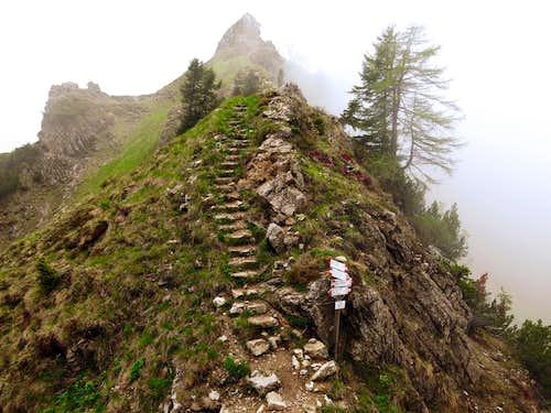 Bocca dell'Ussol, start of Gavardina ridges