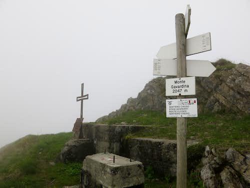 Summit of Gavardina in the fog