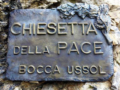 WWI memorial plaque near Bocca dell'Ussol
