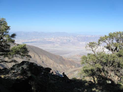Death Valley Canyon With the Funeral Mountains In the Background