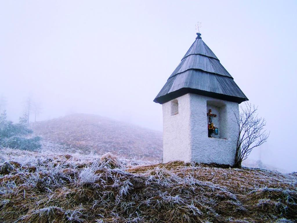 Small chapel near the peak of Urslja gora