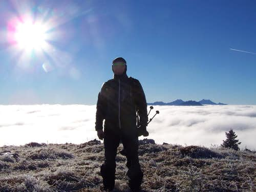 My buddy above the sea of clouds