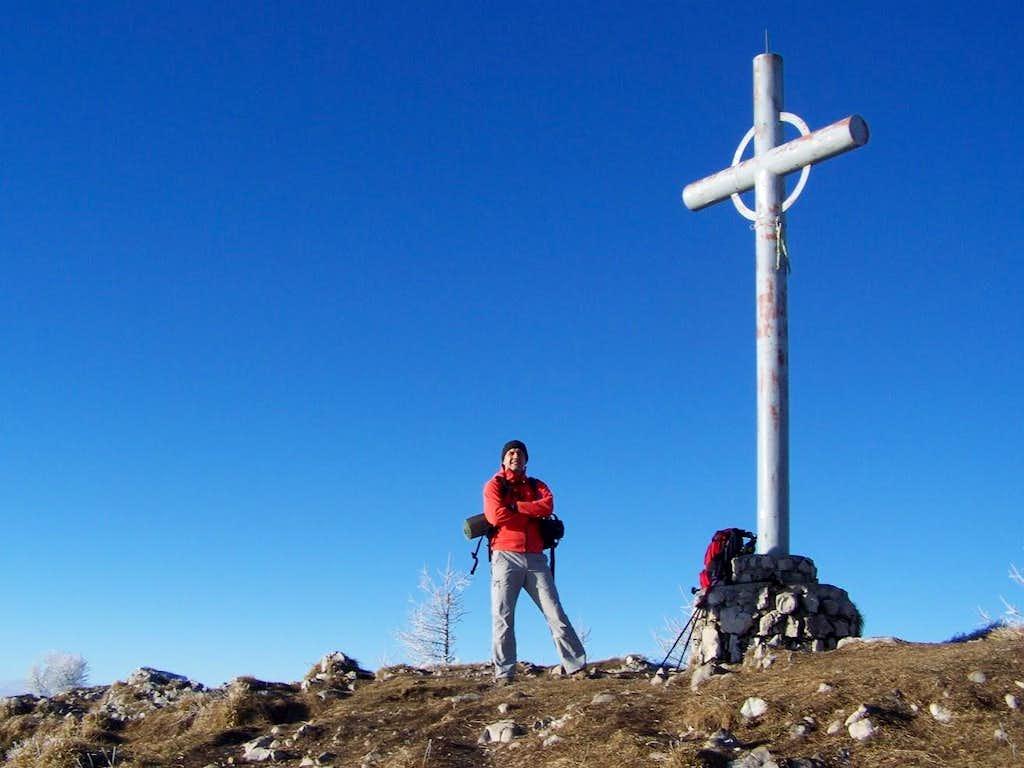 At the summit cross of Urslja gora