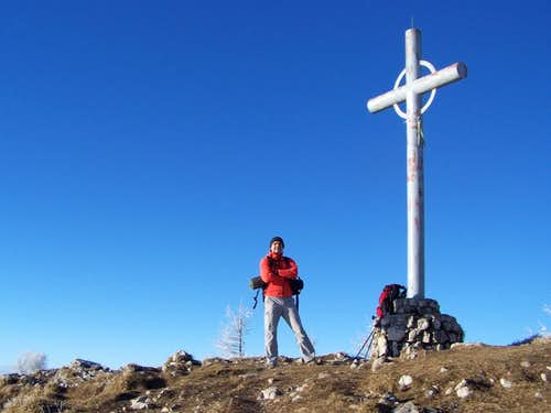 At the summit cross of Urslja gora