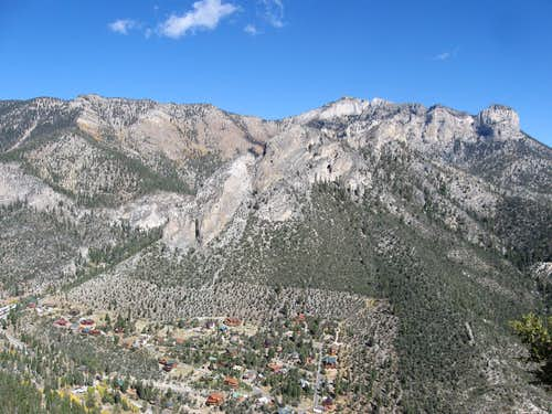Cockscomb Ridge & Mummy Mountain Above Kyle Canyon