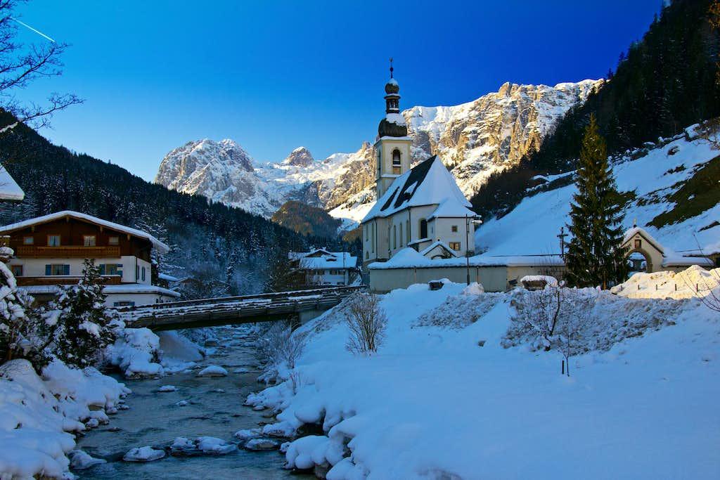The mountain village of Ramsau