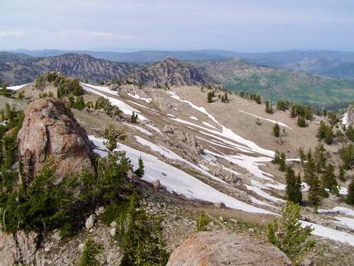 View from summit to the...
