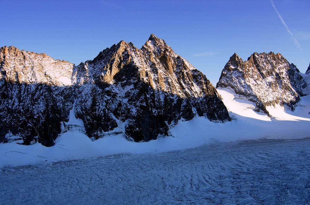 Glacier Blanc seen from Refuge des Ecrins