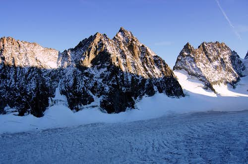 Glacier Blanc seen from Refuge des Ecrins