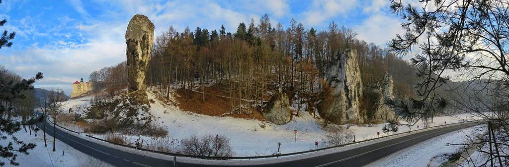 Maczuga Herkulesa and Pieskowa Skała castle