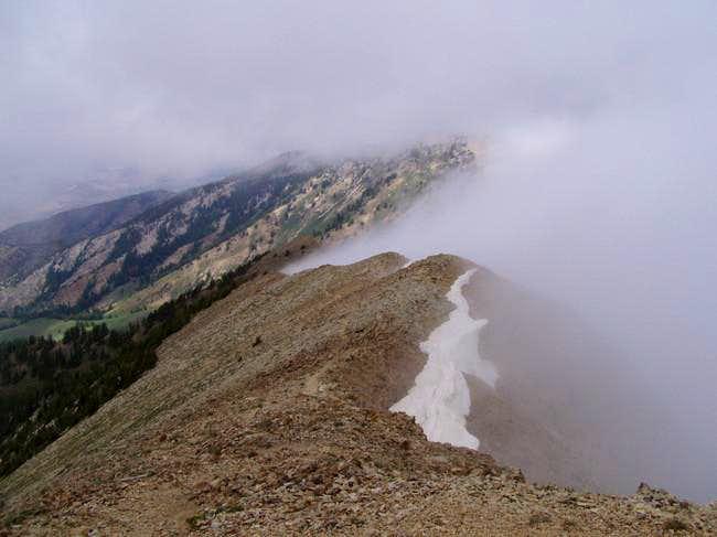 North ridge of Deseret Peak....