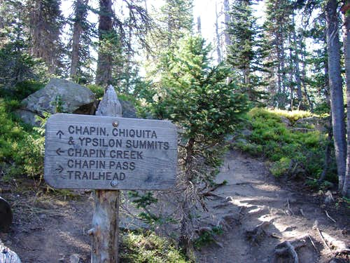 Chapin Pass sign