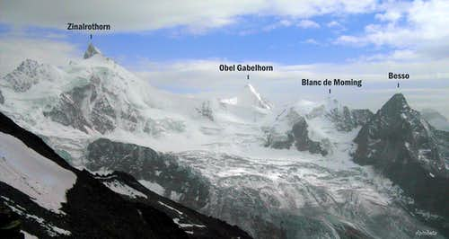 Annotated view from Cabane de Tracuit