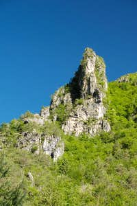 Rock tower in Val Prubogn
